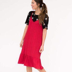 AGNES & DORA SLIP DRESS POPPY